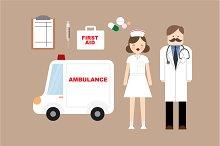 doctor/nurse vector