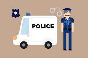police vector/illustration