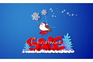 Christmas advertising design card