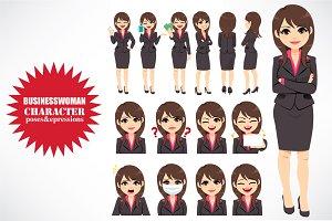 Brunette Businesswoman Character