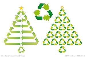 Eco friendly Christmas tree, vector