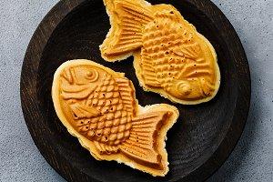 Taiyaki Japanese fish-shaped food