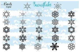 Snowflake Clipart Black Color