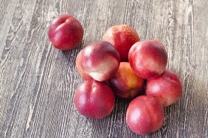 ripe red peaches