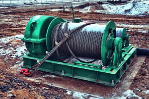 Big Stationary Winch With Steel Wire