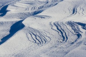 Snow drifts in winter