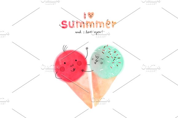 I love Summmer fun illustration