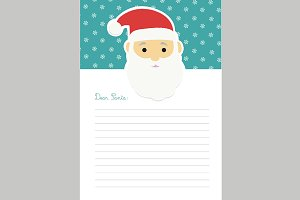 Letter template to Santa Claus