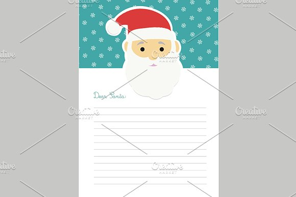 letter template to santa claus stationery