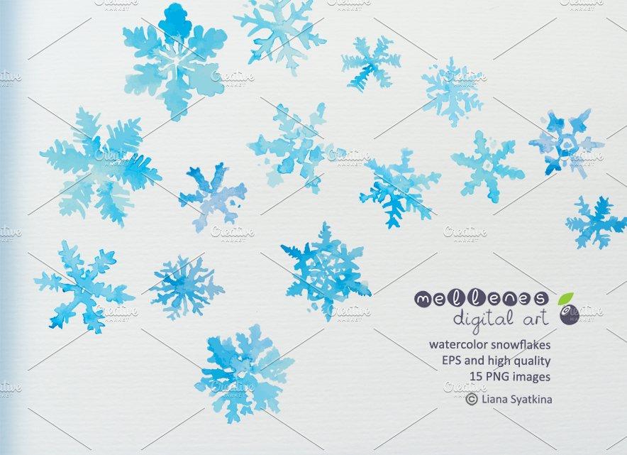 watercolor vector snowflakes illustrations creative market
