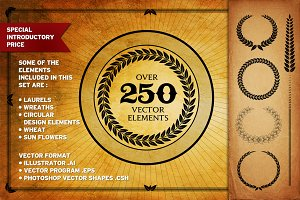 Over 250 Vector Decorative Elements
