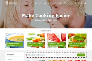 Cooking Blog - WordPress Theme