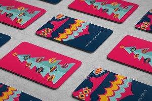 Christmas Card design template