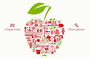 Gardening Equipment Icons