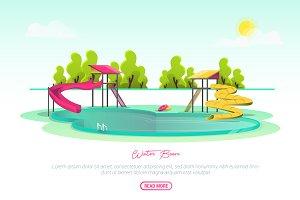 Water Boom - Vector Landscape