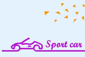 Sport car banner