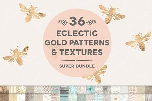 36 Gold & Weathered Texture Bundle