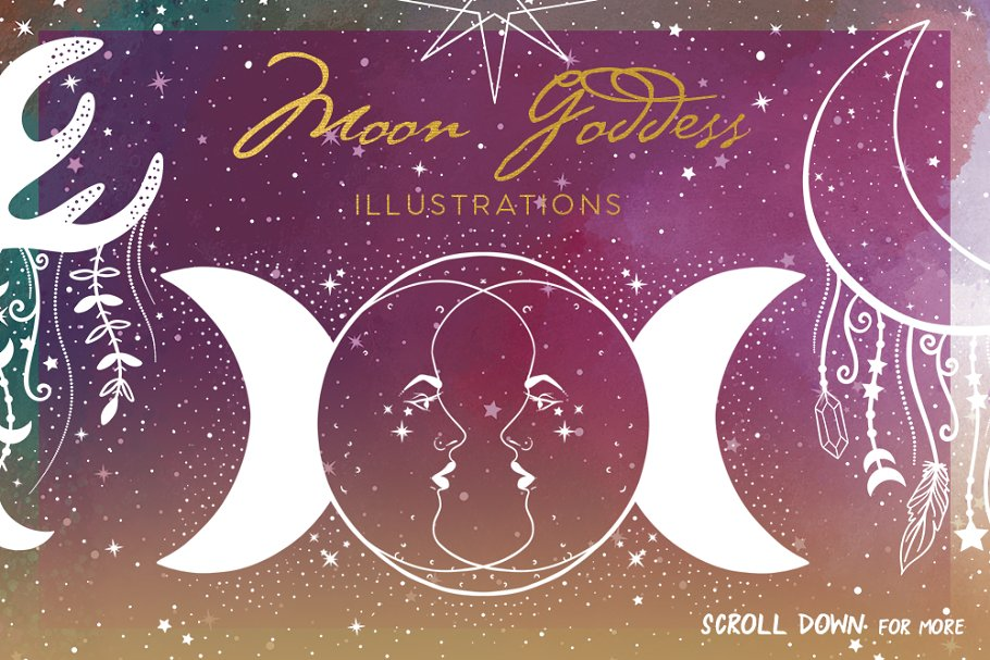 Moon Goddess Illustrations