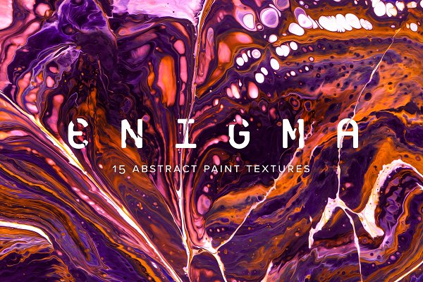 Textures: Chroma Supply - Enigma: 15 Abstract Paint Textures