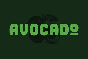 The Avocado Font