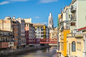 Girona StFelix church, Eiffel bridge