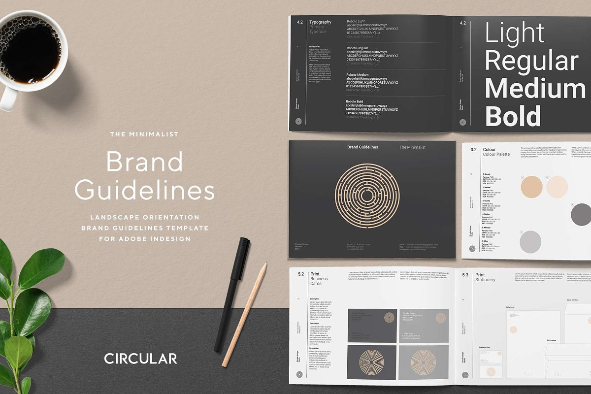 THE MINIMALIST / Brand Guidelines ~ Brochure Templates