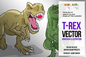 Tyrannosaurus Vector Illustration