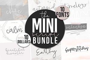Mini Script Bundle - 10 Fonts