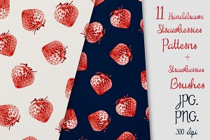 11 Strawberries Patterns & Brash