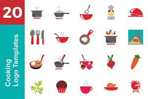 20 Logo Cooking Templates Bundle
