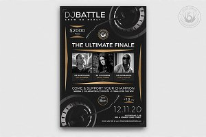DJ Battle Flyer Template V6