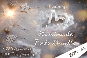 15 Creative Handmade Fonts Bundle
