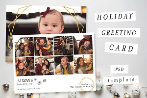 Holiday Greeting Card Template VII
