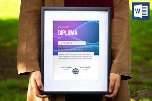 Modern Diploma MS Word Template