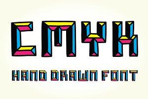 CMYK font