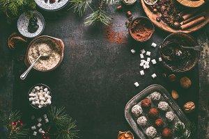 Homemade vegan Christmas truffles