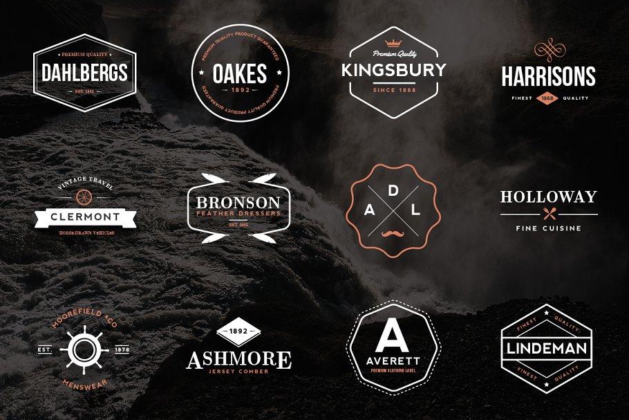 Retro Insignia Logos v3 ~ Logo Templates ~ Creative Market