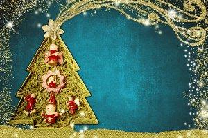 Cute Christmas tree card.