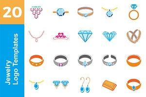 20 Logo Jewelry Templates Bundle