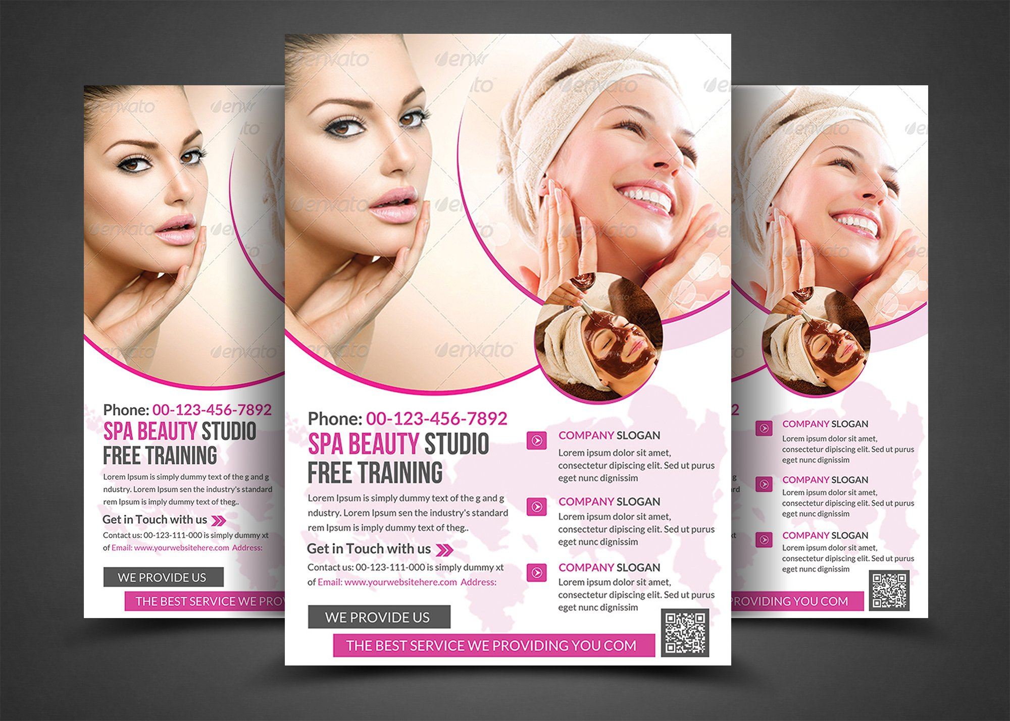 Spa Beauty Print Templates Flyer Templates Creative Market