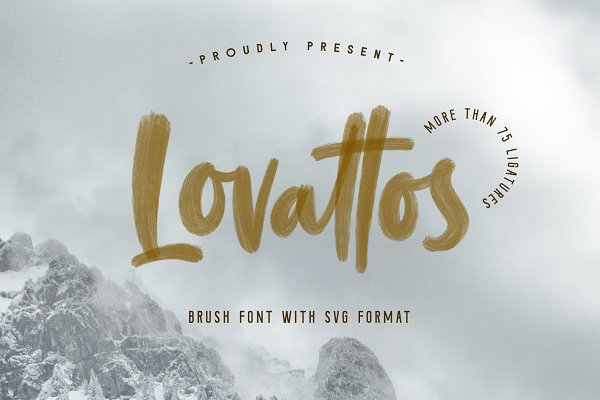Script Fonts: Typenations - Lovattos SVG & Regular Font