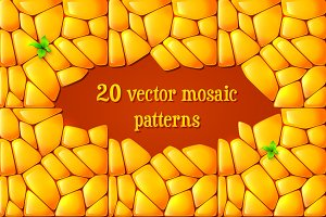 20 vector mosaic patterns