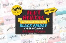 54 Fonts Bundle   Black Friday