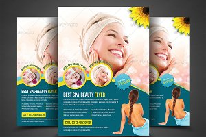 Spa Beauty flyer Print Templates