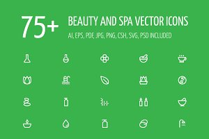 75+ Beauty and Spa Vector Icons