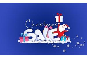 Merry Christmas Sale design card
