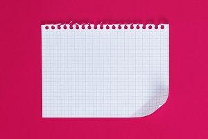 empty rectangular sheet