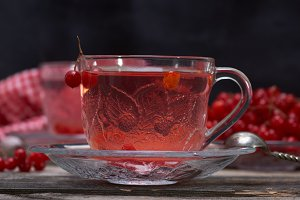 hot viburnum tea
