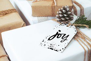 Joy and Dotty Christmas Gift Tags