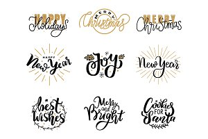 Happy Holidays Lettering Hand Drawn